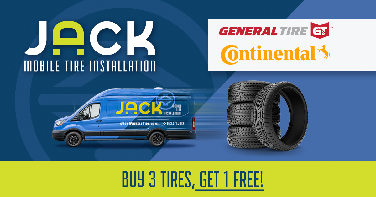 Buy 3 Tires Get 1 Free JACK Mobile Tire